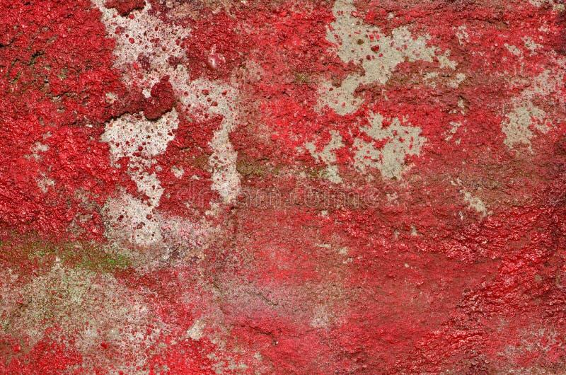 Pintura roja apenada foto de archivo