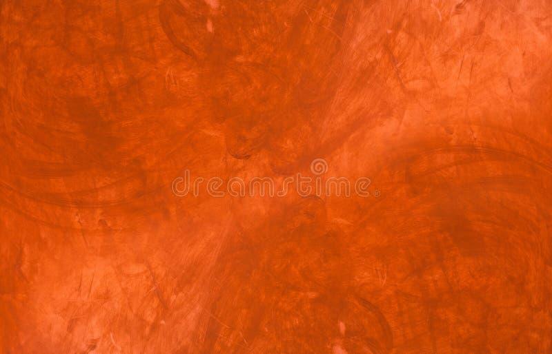 Pintura roja en el conrete o el yeso, textura fotos de archivo libres de regalías