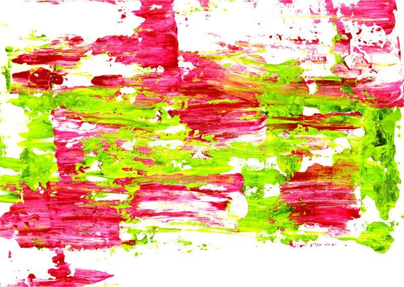 Pintura rosada y verde viva separada abstracto foto de archivo libre de regalías
