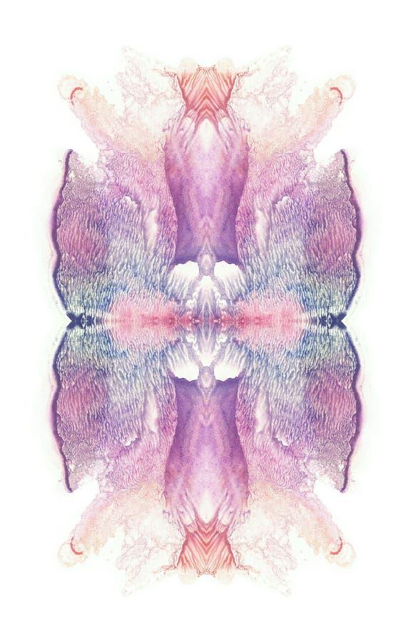 Pintura simétrica abstracta Flor stock de ilustración