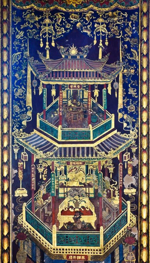 Pintura Tailandés-China del estilo fotos de archivo