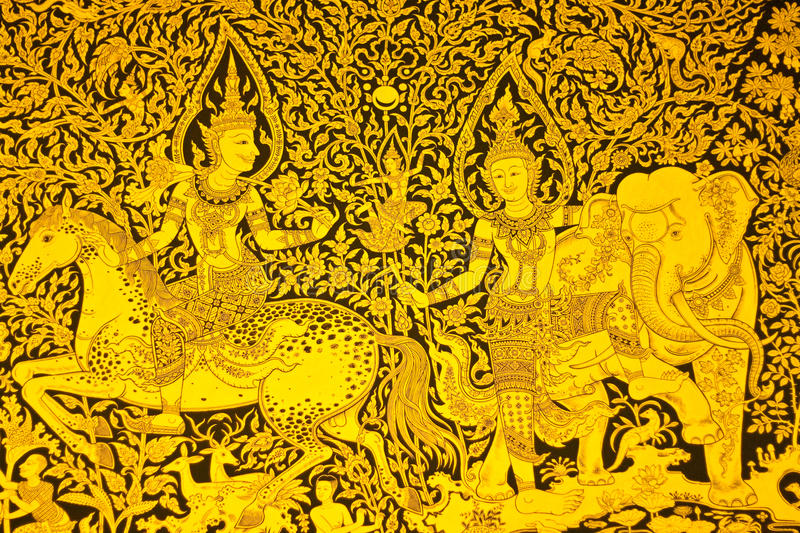 Pintura tailandesa fotografia de stock royalty free