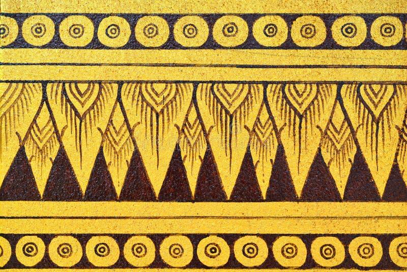 Pintura tailandesa antigua en la pared en el templo de Buda imagenes de archivo