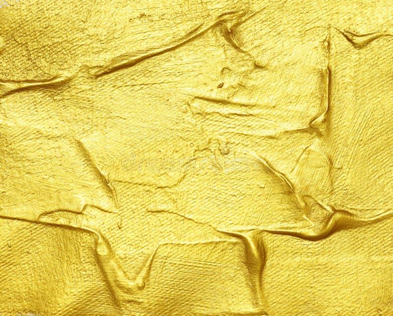 Pintura texturizada acrílico del oro fotografía de archivo