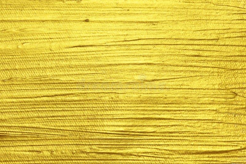 Pintura texturizada acrílico del oro foto de archivo libre de regalías