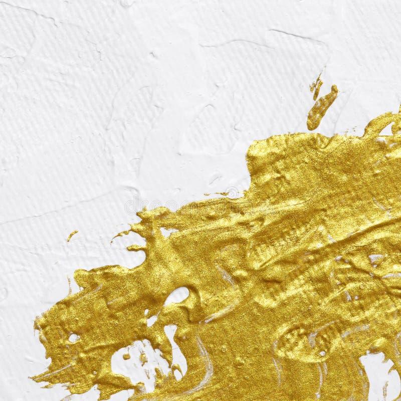 Pintura texturizada acrílico del oro fotografía de archivo libre de regalías
