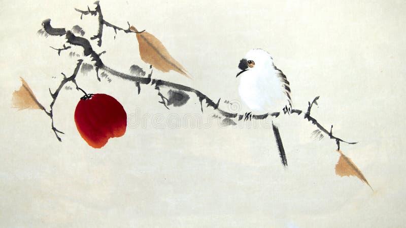 Pintura tradicional chinesa ilustração royalty free