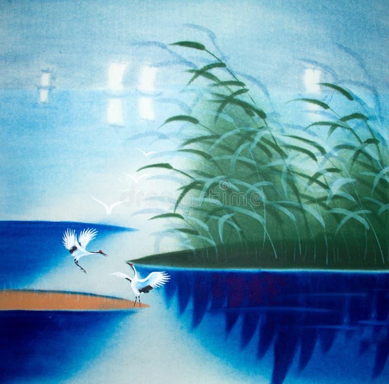 Pintura tradicional chinesa ilustração do vetor