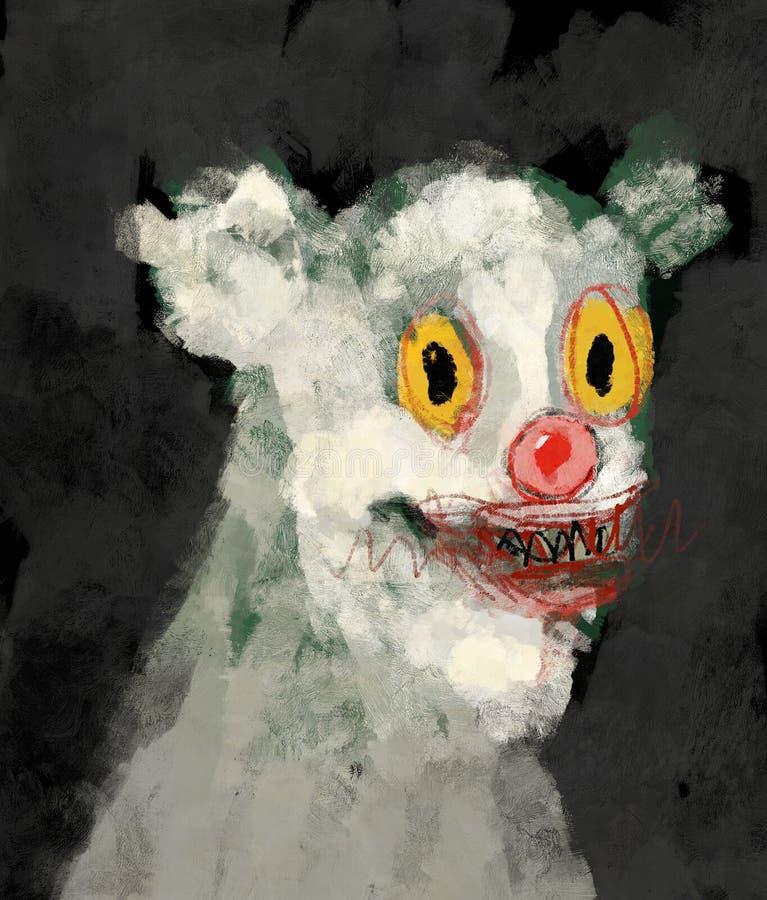 Pintura tradicional de Digitaces de un retrato de un ejemplo humanoid del concepto del arte del oso extraño de la criatura ilustración del vector