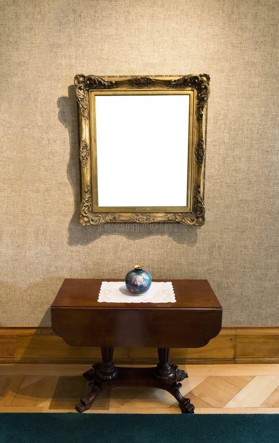 Pintura vazia em Art Gallery fotografia de stock royalty free