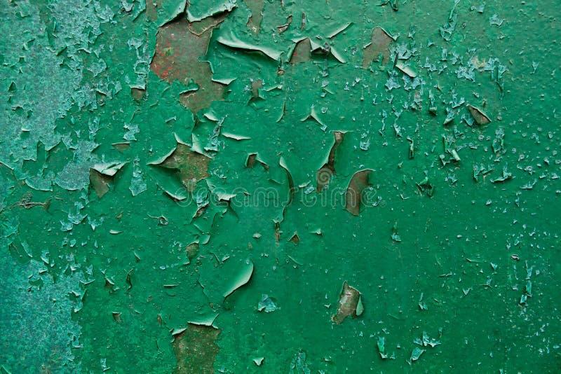 Pintura velha da casca no fundo oxidado de Grunge do metal fotos de stock royalty free