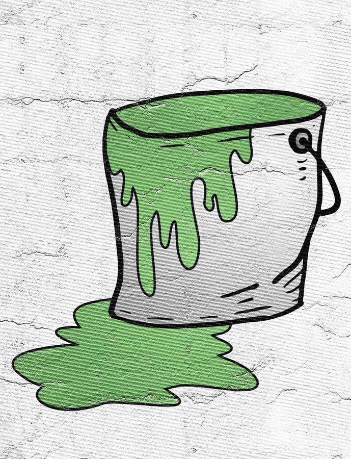 Pintura verde ilustração stock
