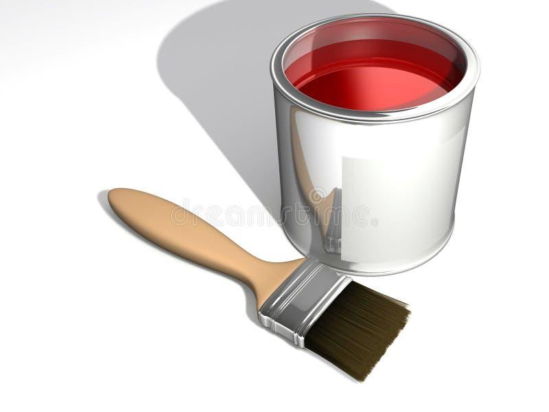 Pintura vermelha ilustração stock