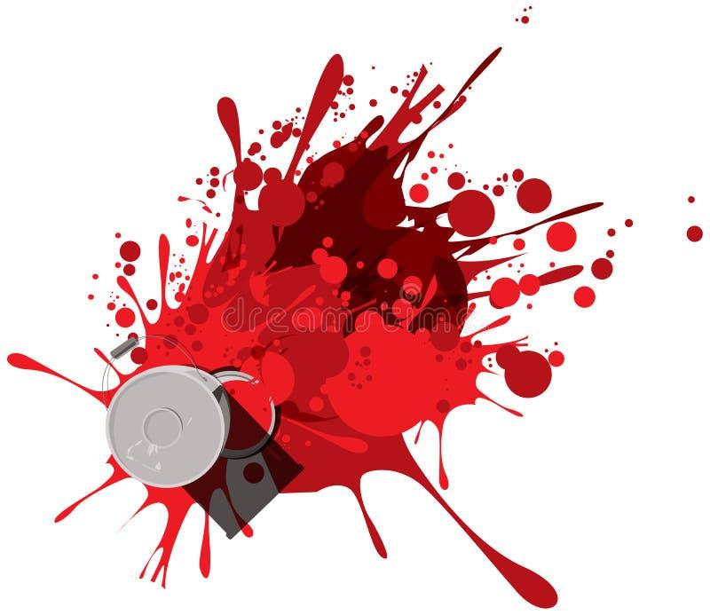 Pintura vermelha ilustração do vetor