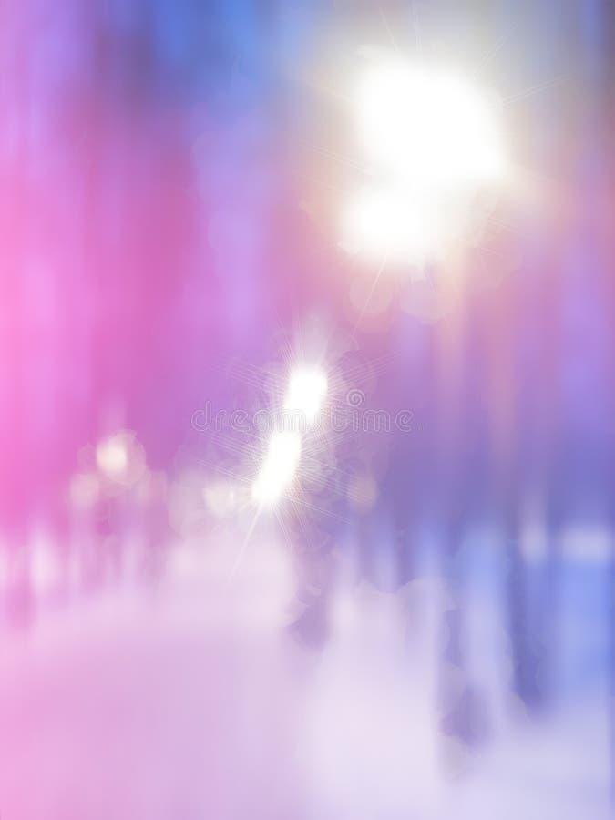 Pintura vertical da iluminação da rua do Natal ilustração royalty free