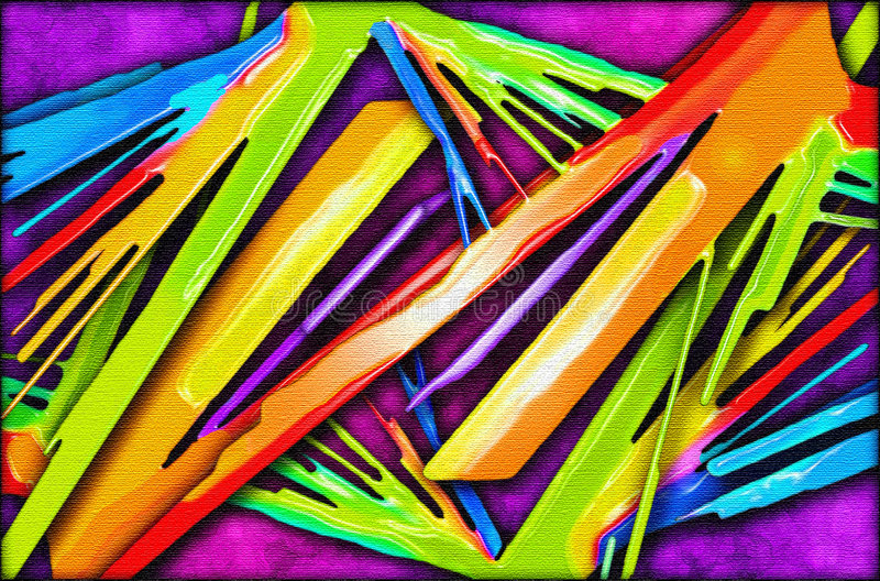 Pintura viva del extracto del color ilustración del vector