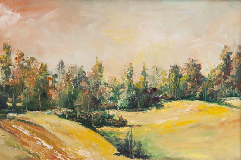 Pinturas al óleo ilustración del vector
