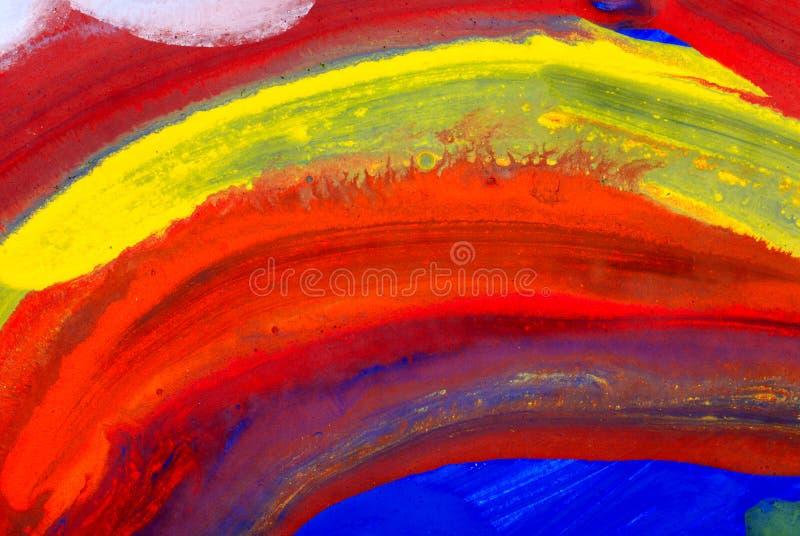 Pinturas da cor de água do desenho das crianças fotografia de stock royalty free