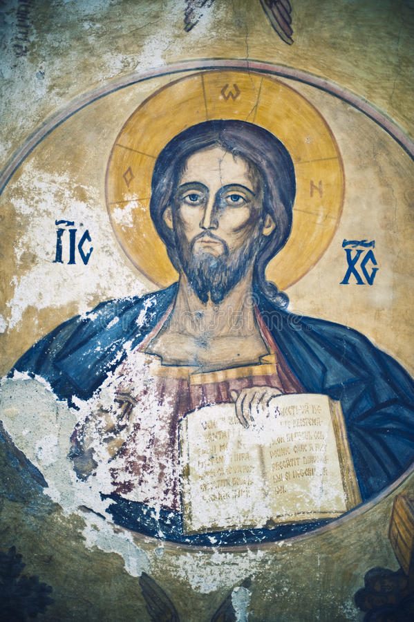 Pinturas da igreja ilustração royalty free