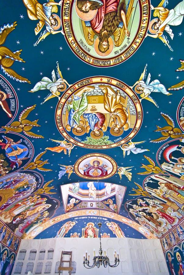 Pinturas da igreja ilustração stock