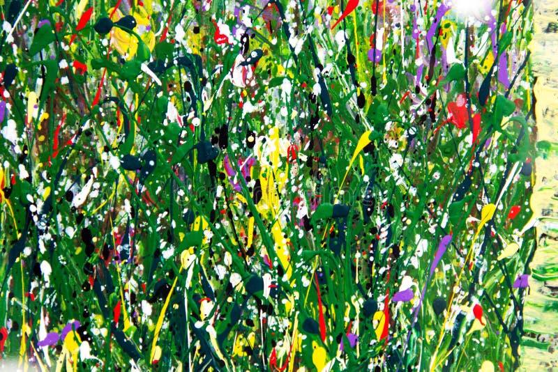 Pinturas de aceite: fondo abstracto fotografía de archivo