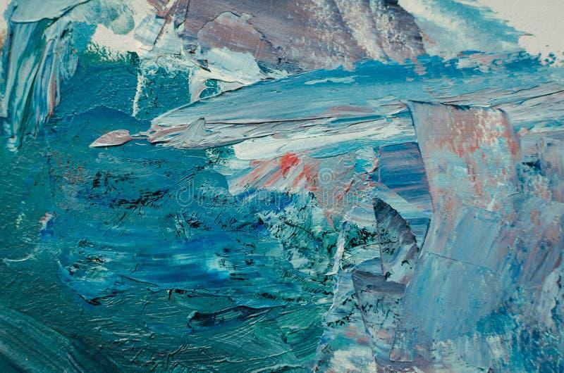 pinturas de aceite mezcladas de la textura en diversos colores foto de archivo