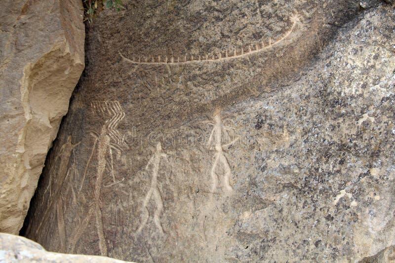 Pinturas de cuevas fotografía de archivo