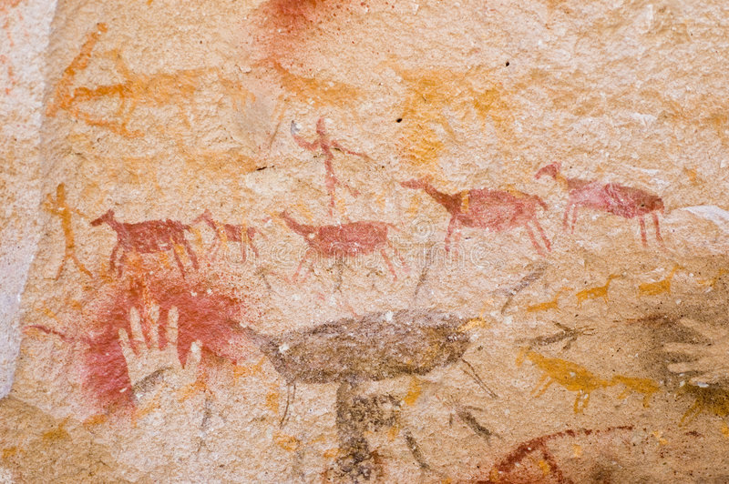 Pinturas de cuevas en la Argentina. foto de archivo libre de regalías