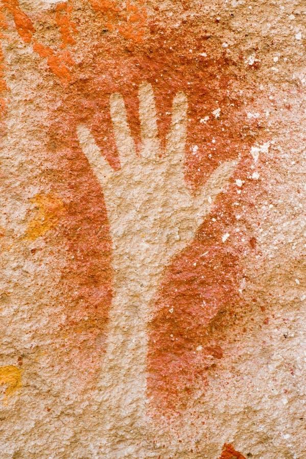 Pinturas de cuevas en la Argentina fotografía de archivo libre de regalías
