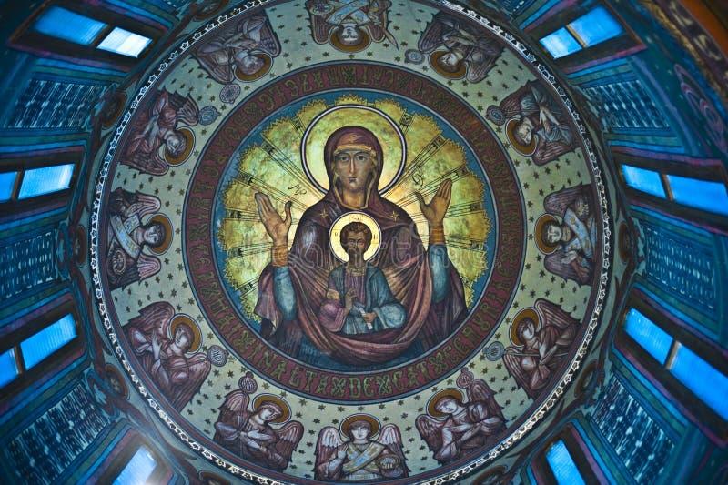 Pinturas de la iglesia imagen de archivo libre de regalías