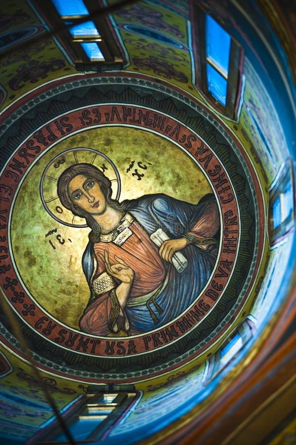 Pinturas de la iglesia stock de ilustración