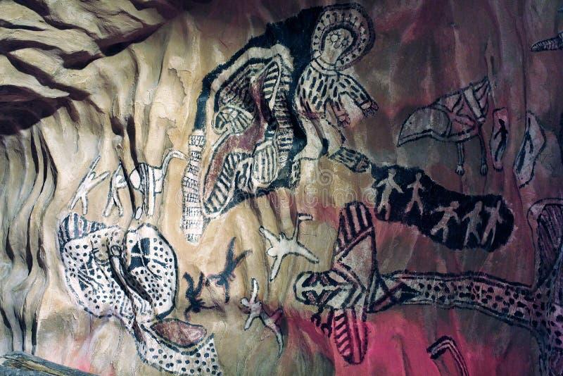 Pinturas de la roca imagen de archivo