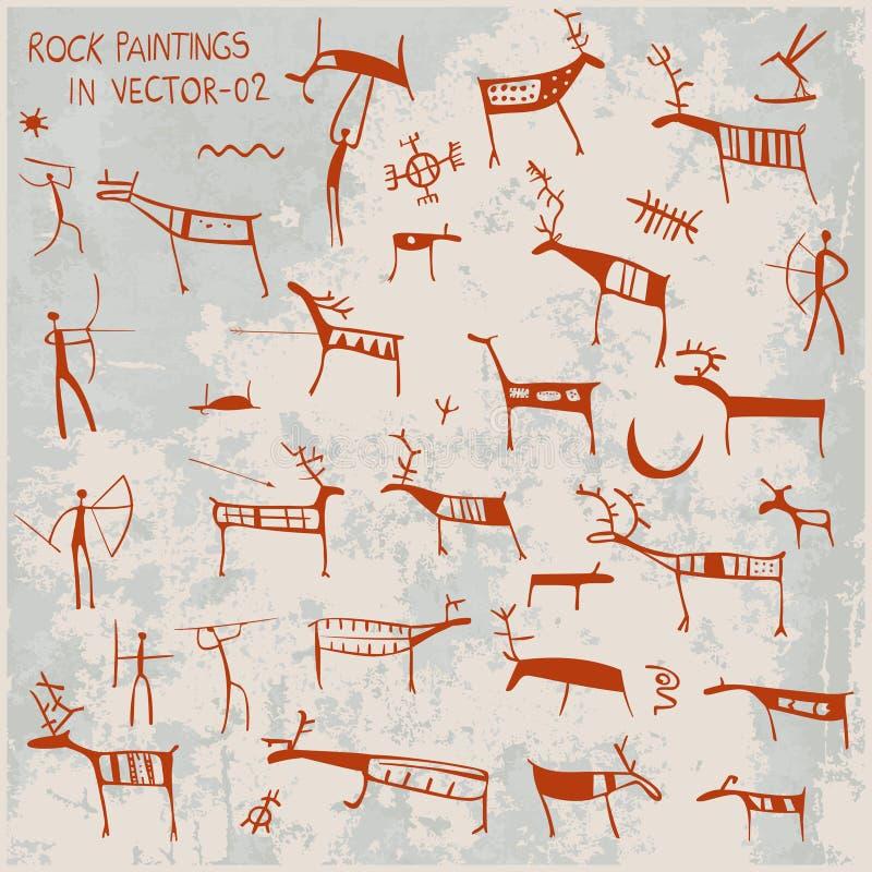 Pinturas de la roca libre illustration
