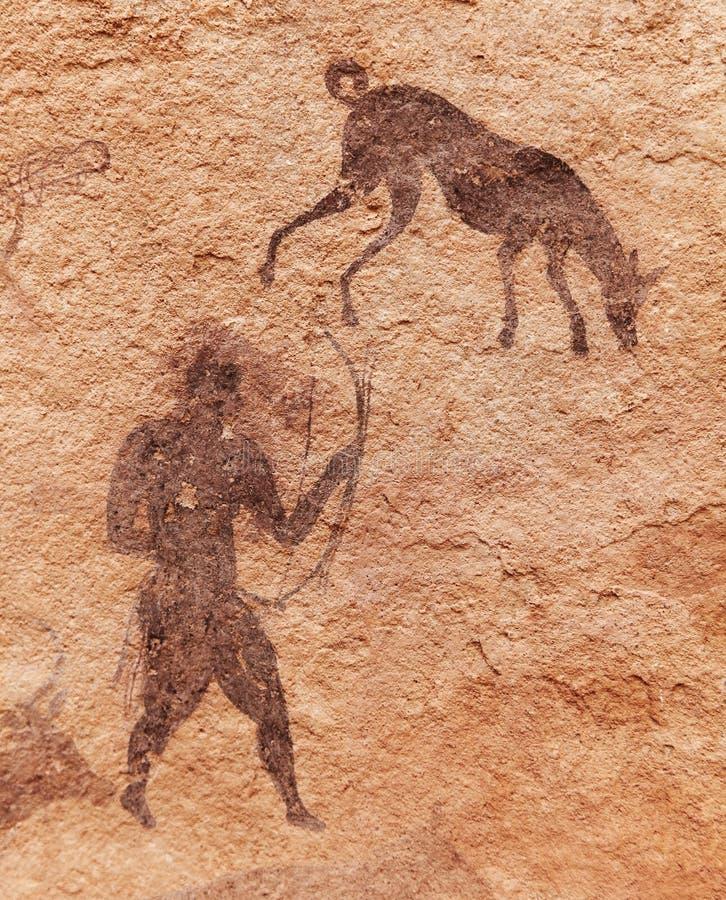 Pinturas de la roca de Tassili N'Ajjer, Argelia fotografía de archivo