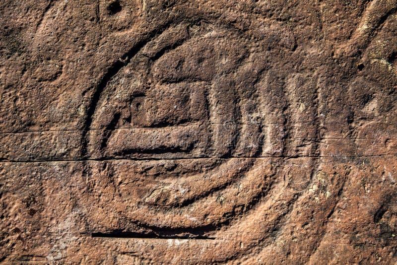 Pinturas de la roca en la República Dominicana imagen de archivo libre de regalías