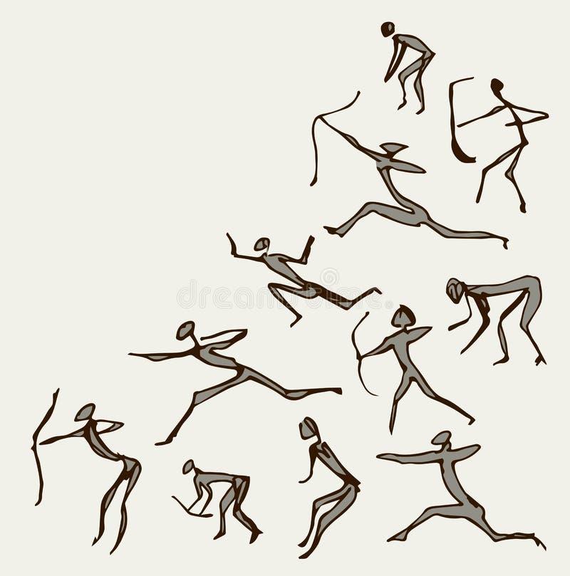 Pinturas de la roca Gráfico del vector libre illustration