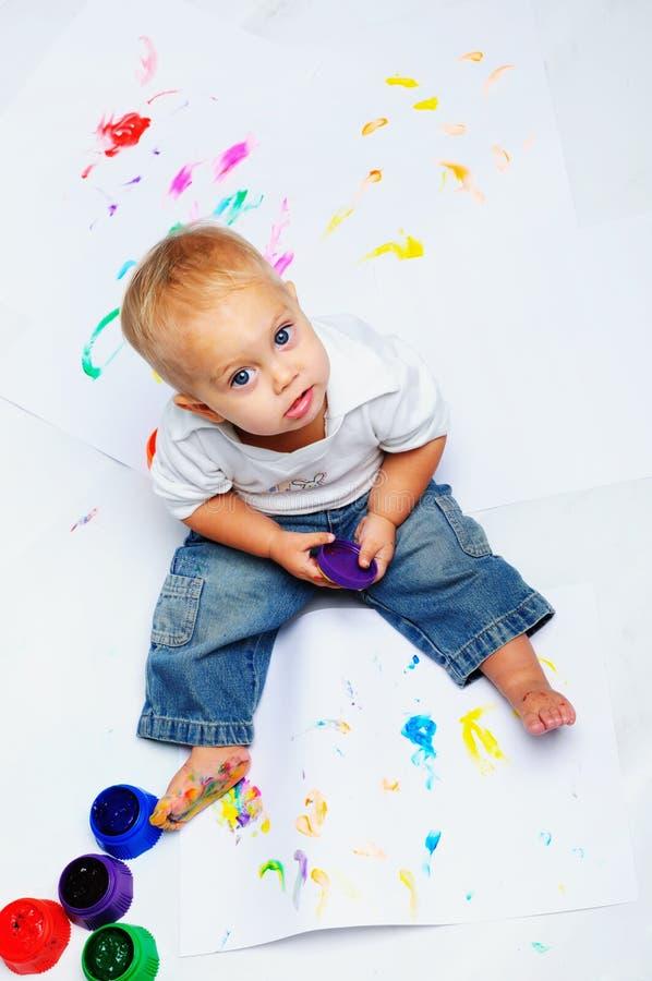 Pinturas do bebé fotos de stock