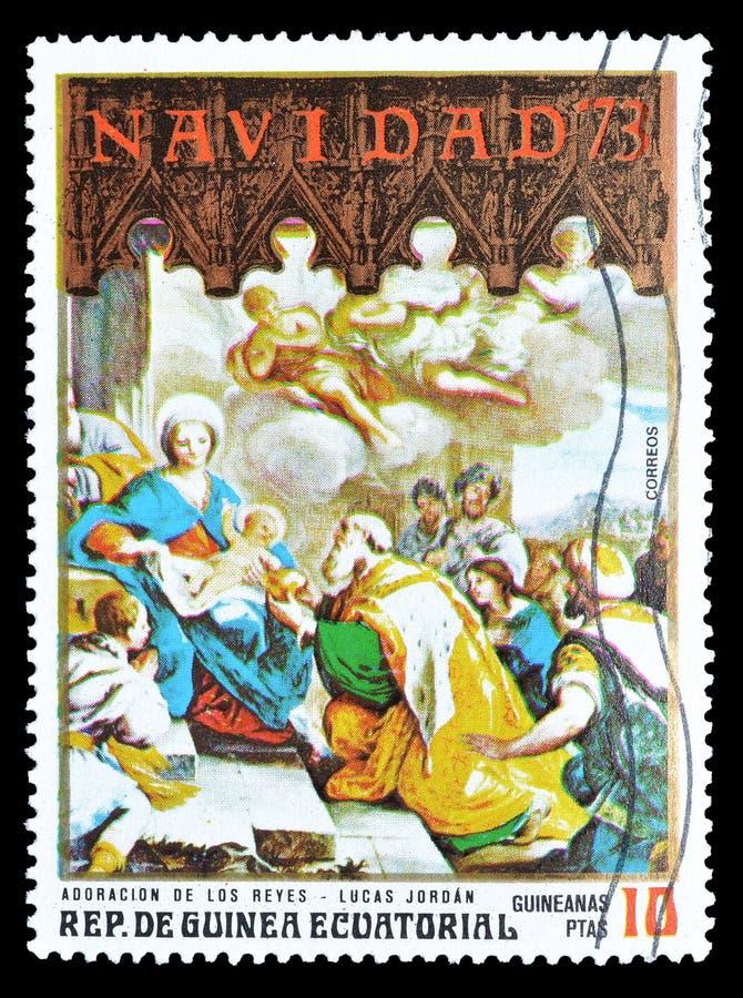 Pinturas em selos postais foto de stock royalty free