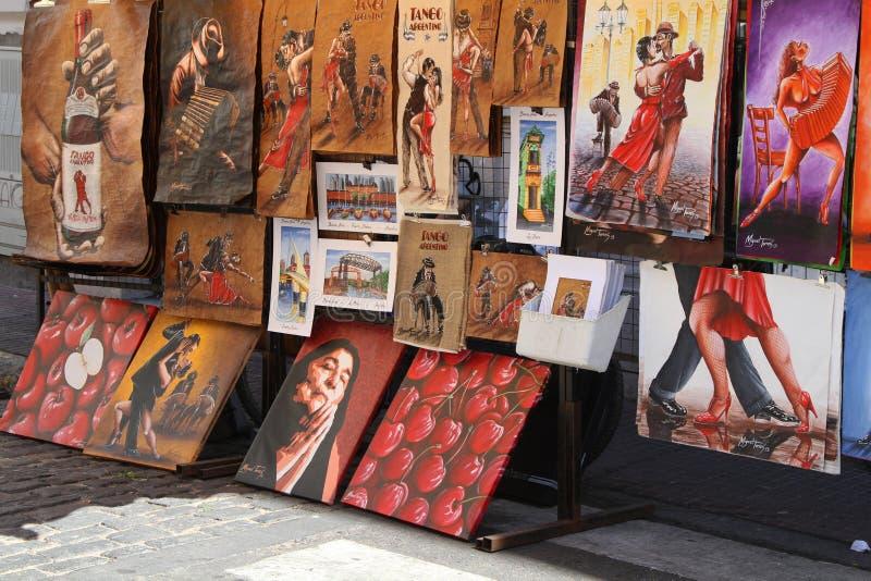 Pinturas en San Telmo imagen de archivo