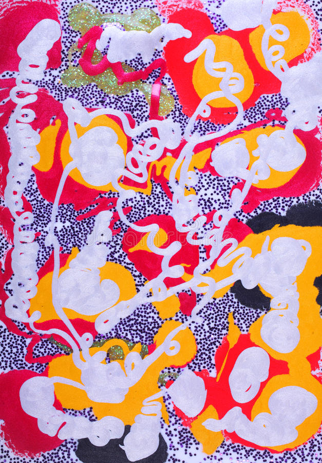 Pinturas líquidas abstractas foto de archivo