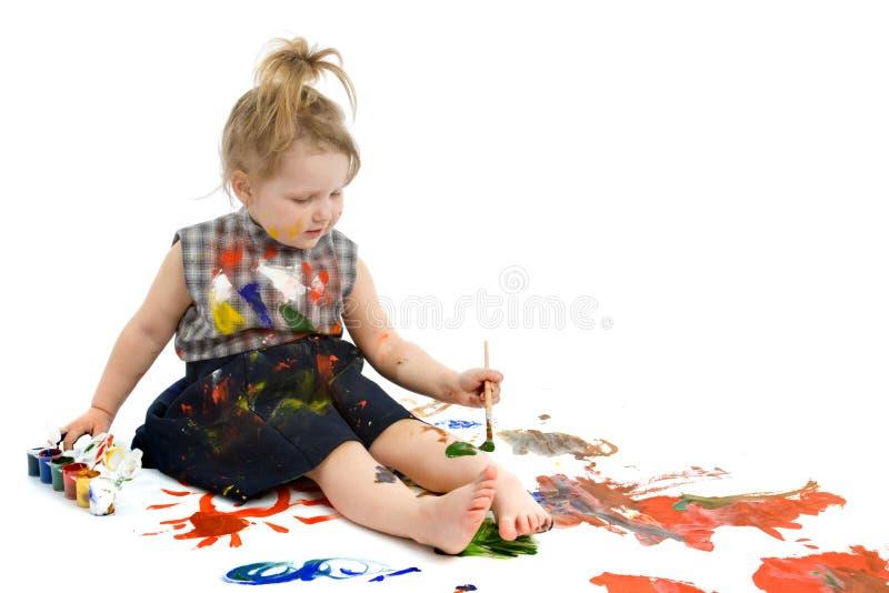 Pinturas lindas del bebé imagenes de archivo