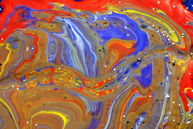 Pinturas mezcladas coloridas imagen de archivo