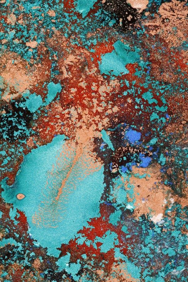 Pinturas molhadas Glittery foto de stock