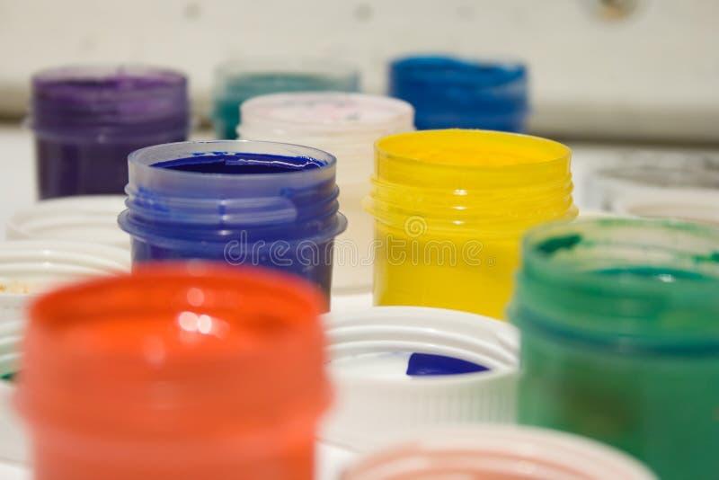 Pinturas multicoloras del aguazo