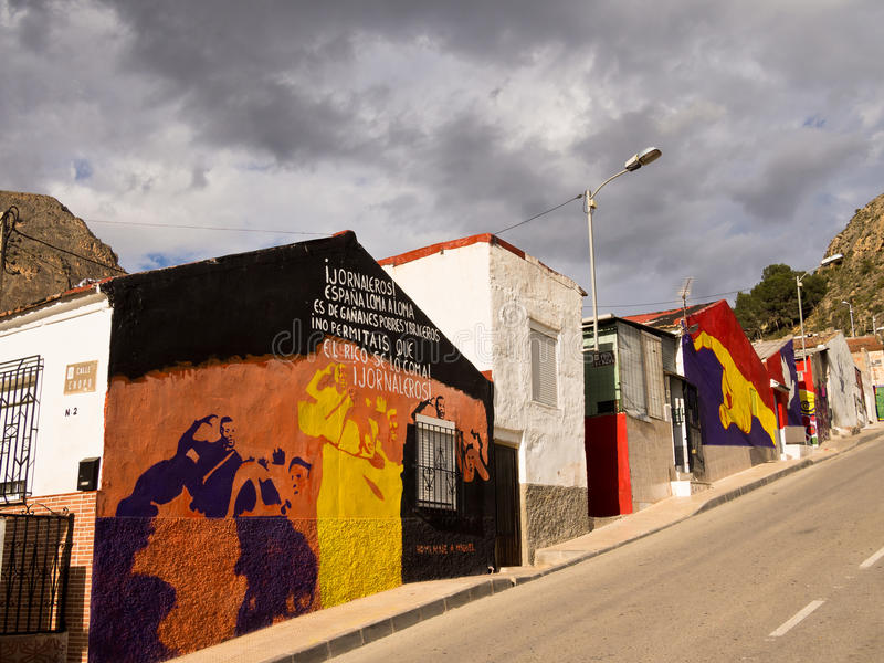 Arte da rua em Orihuela, Alicante - Spain imagem de stock