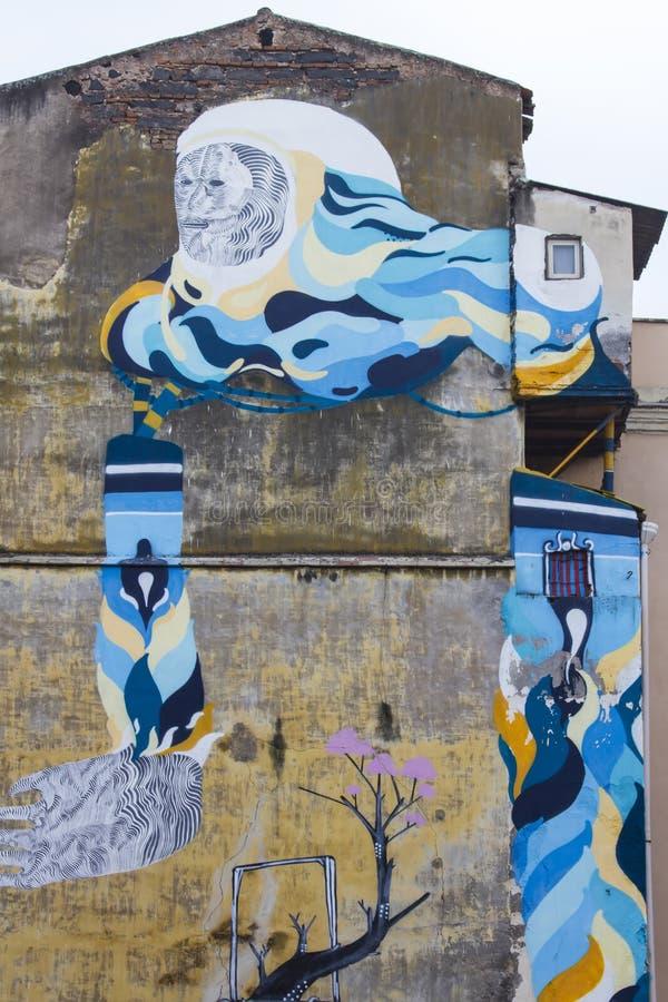 Pinturas murais de Catania, Itália imagem de stock royalty free