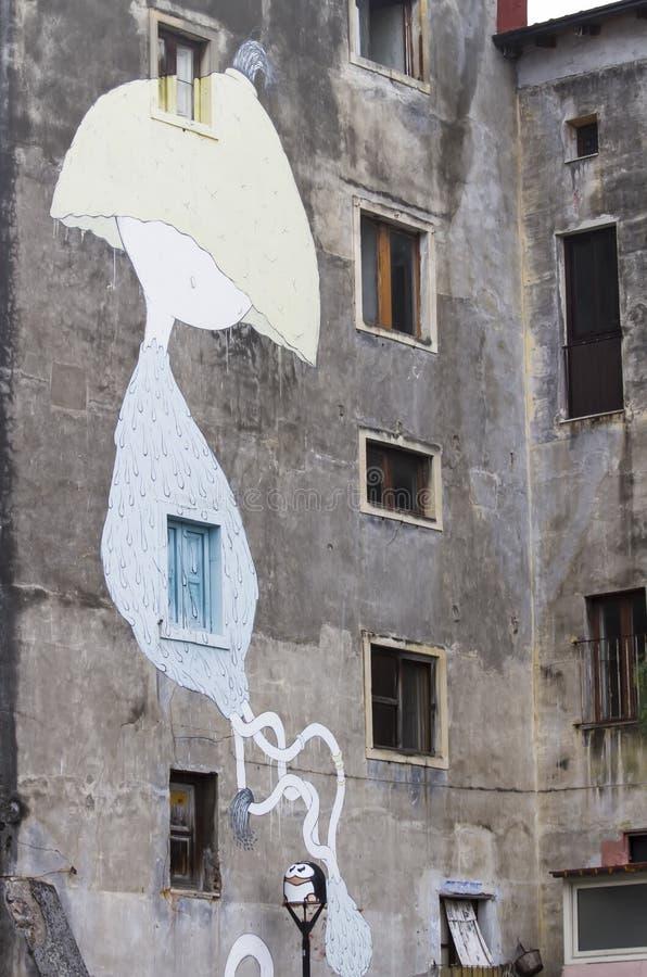 Pinturas murais de Catania, Itália fotografia de stock royalty free