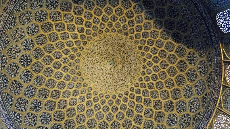 Pinturas murais do teto no estilo persa fotografia de stock royalty free