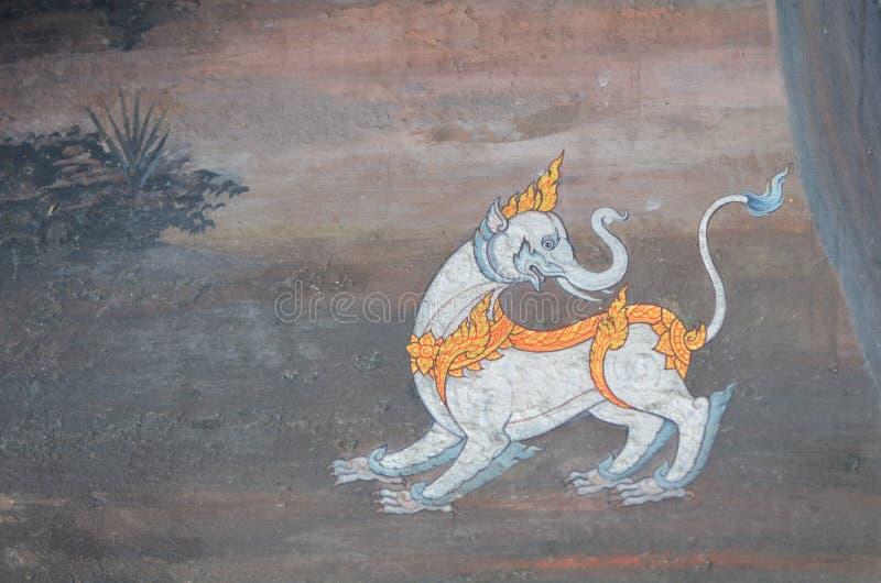 Pinturas murais tailandesas imagens de stock