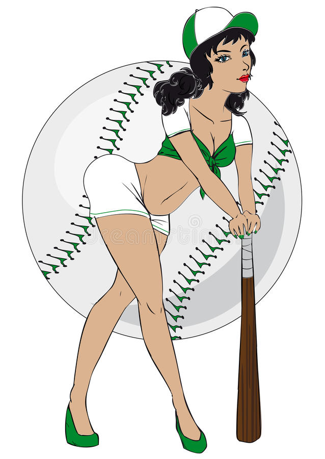 Pinup girl vector illustration